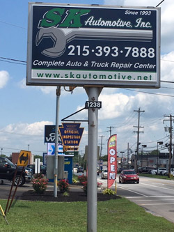 S K Automotive sign